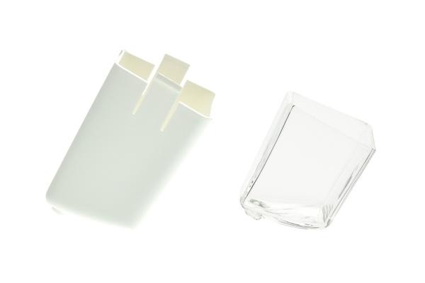 Aktivkohlefiltergehäuse mit Glasinlet für das Megahome Destilliergerät